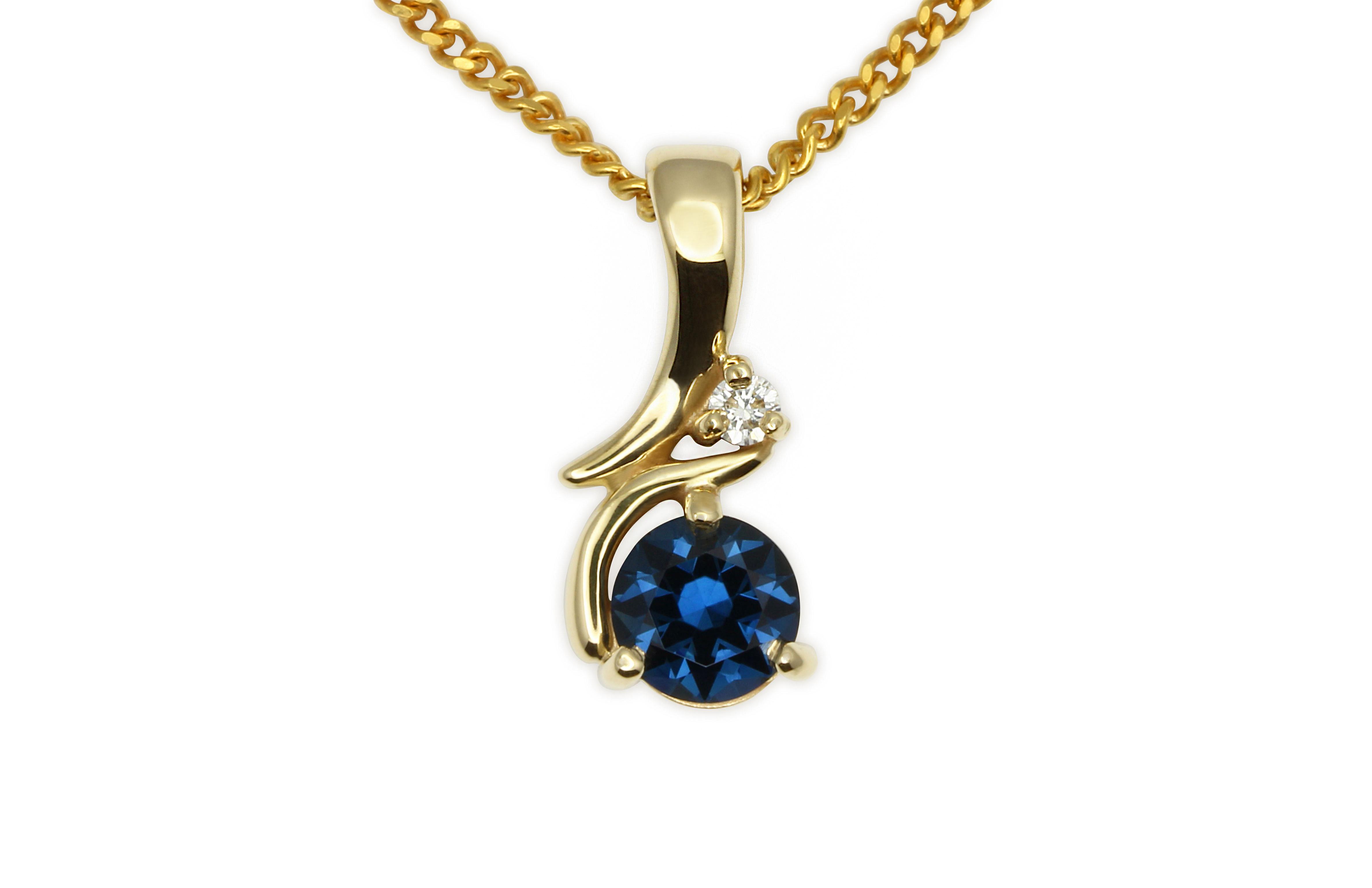 063ct blue sapphire and diamond pendant j6057 rubyvale gem gallery 063ct blue sapphire and diamond pendant j6057 aloadofball Gallery